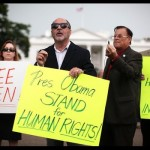 Vigil For Chinese Activist Chen Guangcheng In From Of White House